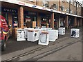 SP2965 : Washing machines and other appliances delivered to a shop, Emscote Road, Warwick by Robin Stott