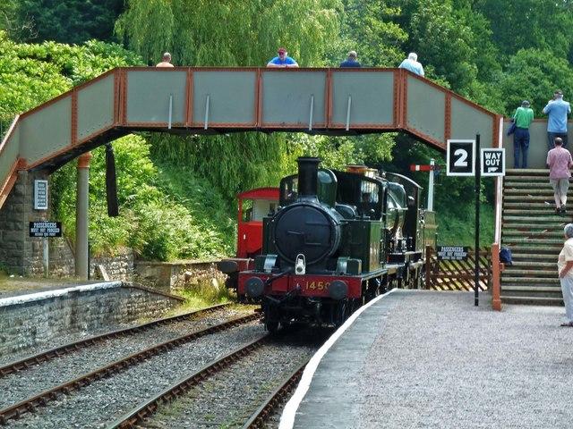 Parkend Station - light engine movement