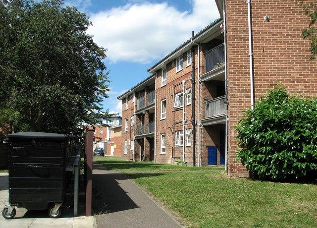Council flats at Magdalen Close