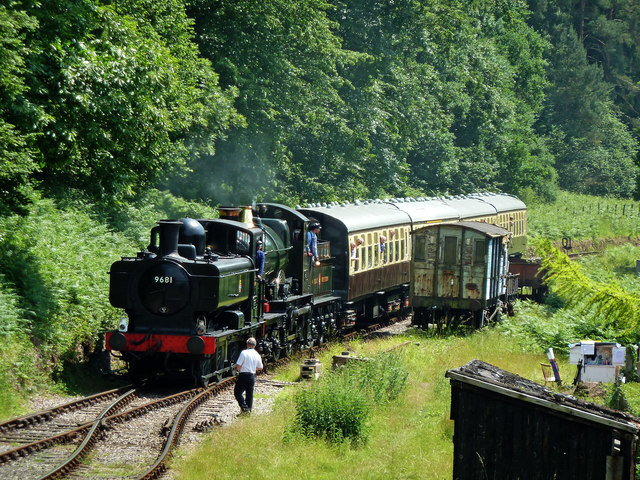 Dean Forest Railway - approaching Parkend