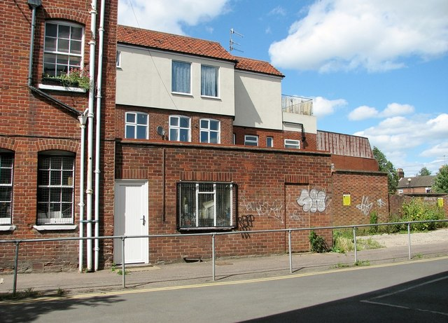 Houses adjacent to the Magdalen Street flyover
