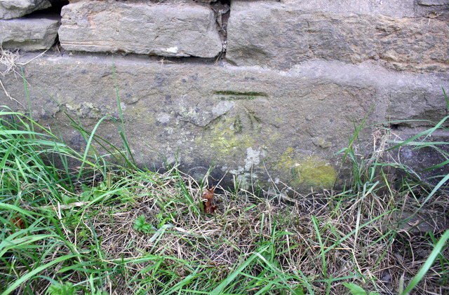 Benchmark on Bingy Cottage, south side A684