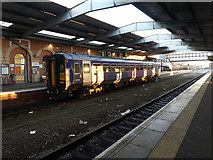 TA2609 : A single car class 153 unit stands in Grimsby Town station by John Lucas