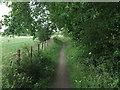 NZ2975 : Public Footpath Near Holy Trinity Church, Seghill by Geoff Holland