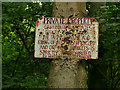 SE2426 : No cycling sign in Howden Clough by Stephen Craven