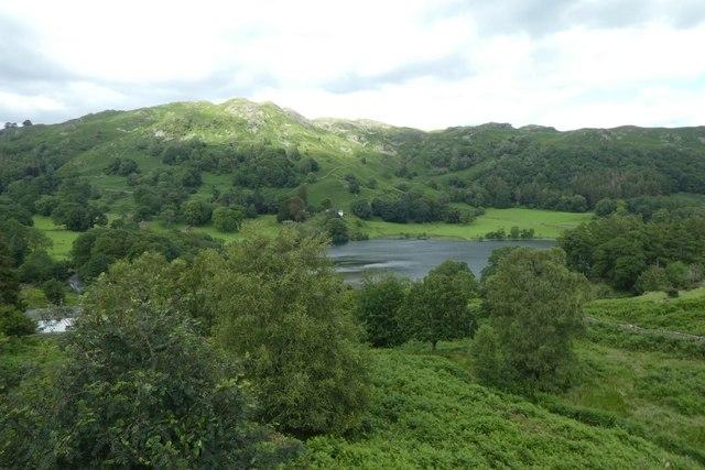 Loughrigg Tarn from Neaum Crag