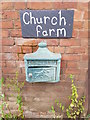 SO8752 : Letter box at Church farm, Whittington by Jeff Gogarty