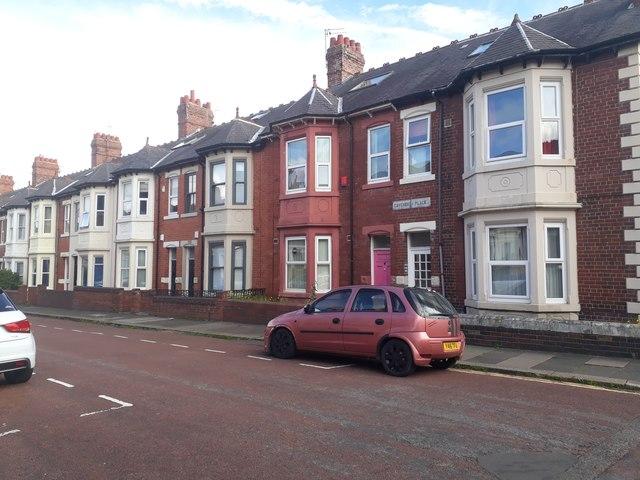 Terraced houses, Cavendish  Place, Jesmond, Newcastle upon Tyne