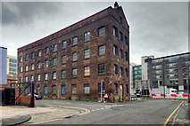 SJ8498 : Old Factory Building on Cable Street by David Dixon