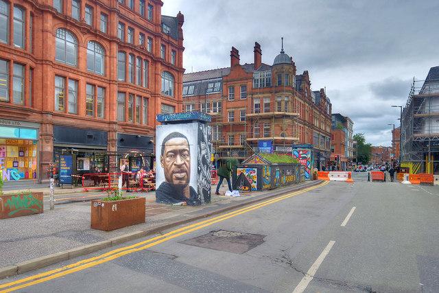 Pedestrianisation of Stevenson Square, July 2020