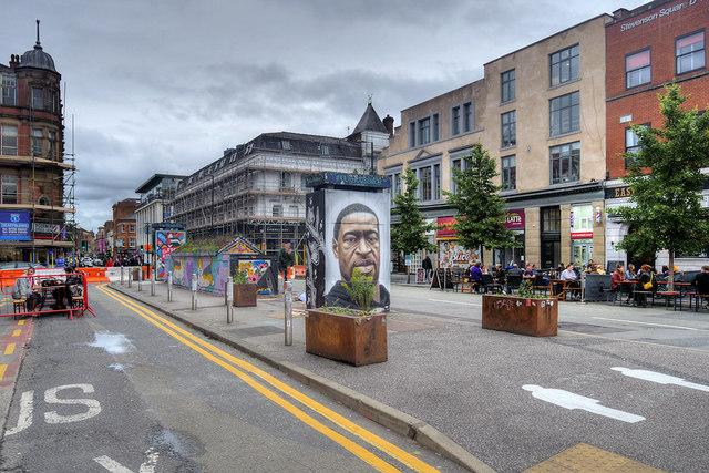 Stevenson Square, Temporary Pedestrianisation July 2020