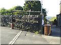 SE2135 : Farsley Cricket Club gates by Stephen Craven