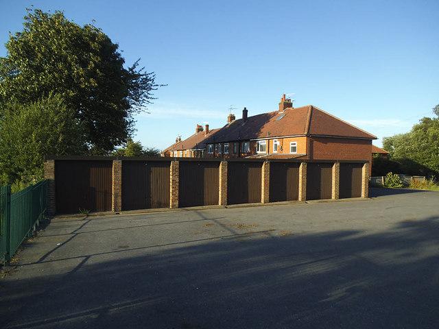 Lock-up garages, Westway, Farsley