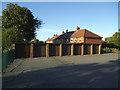 SE2135 : Lock-up garages, Westway, Farsley by Stephen Craven