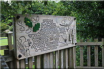 NS2209 : Map/Puzzle of the Adventure Cove, Culzean Country Park by Billy McCrorie