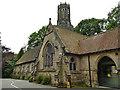 SE2639 : Lawnswood cemetery: non-conformist chapel by Stephen Craven