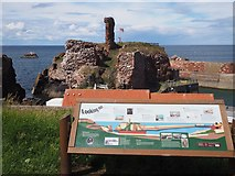 NT6779 : Looking Out to Dunbar Castle by Jennifer Petrie