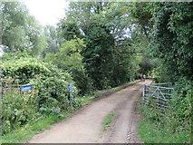 SU0696 : Old railway path near South Cerney by Malc McDonald