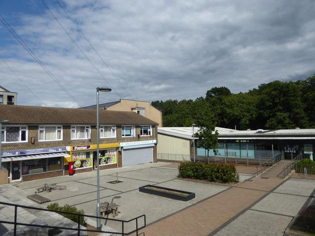 Shopping precinct seen from Greggs Wood Road by Marathon