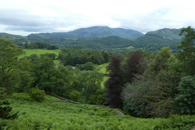 Looking down over Loughrigg