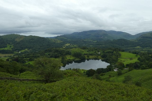 Looking down on Loughrigg Tarn