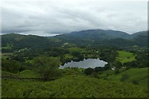 NY3404 : Looking down on Loughrigg Tarn by DS Pugh