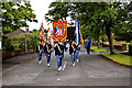 H4772 : Pre 12th July Band parade at Georgian Villas, Omagh by Kenneth  Allen