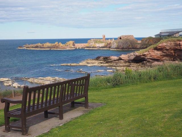 A Seat with a view near Dunbar War Memorial
