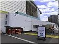 TQ1985 : Medical screening facility outside Wembley Stadium by Steve Daniels