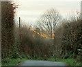 SS9433 : Telegraph wire, Stolford Hill by Derek Harper