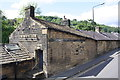 SD9927 : White Lion outbuildings, Keighley Road by Roger Templeman