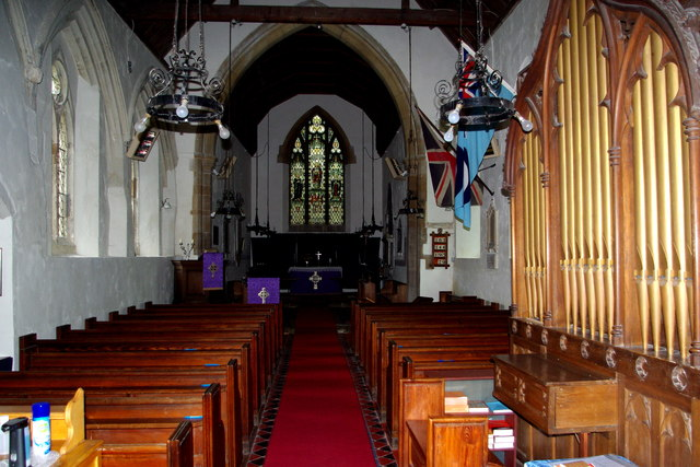 Looking east in St Botolph's Church