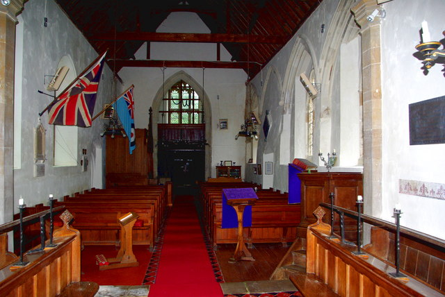Looking west in St Botolph's Church