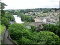 NZ0416 : River  Tees  and  road  bridge  from  castle  wall by Martin Dawes