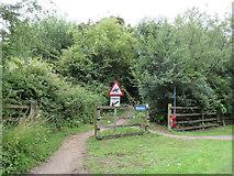 SU0497 : Old railway path near South Cerney by Malc McDonald