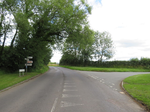 Road junction near South Cerney