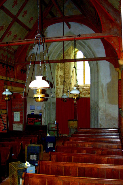 Looking west in All Saints' Church