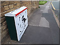 SE2436 : Decorated cabinet on Leeds and Bradford Road by Stephen Craven