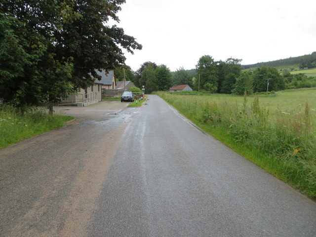 Waterside Road at Strathdon Medical Centre by Peter Wood