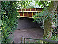 SO8797 : Railway walk at Castlecroft Road Bridge in Wolverhampton by Roger  Kidd