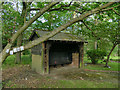 SE2638 : Shelter in Lawnswood cemetery by Stephen Craven