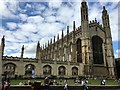 TL4458 : Picnicking on the front lawn of King's College, Cambridge by Richard Humphrey