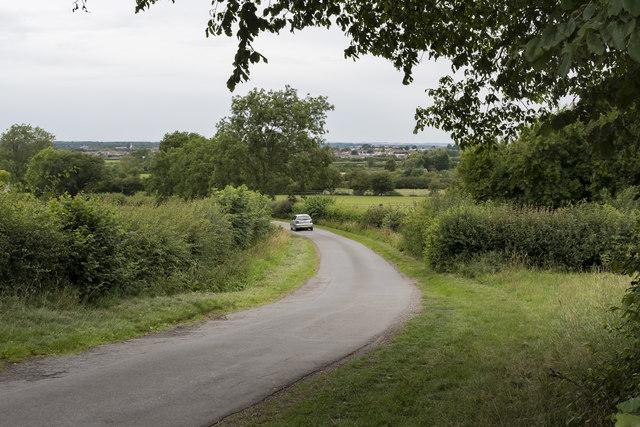 Lane towards Retford