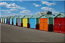 TQ2804 : Hove : beach huts by Julian Osley