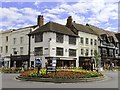 SP2054 : Roundabout on the junction of Bridge Street and High Street by Steve Daniels