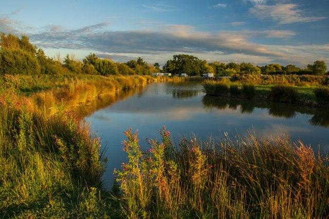 A fishing lake at Bullock Farm, Kingston Seymour