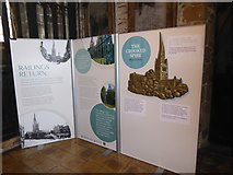SK3871 : Information boards inside St Mary and All Saints church in Chesterfield by Jeremy Bolwell