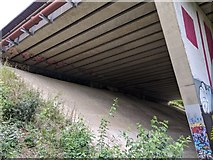 TQ5571 : M25 bridge over Darent Valley Path/River Darent by Paul Williams