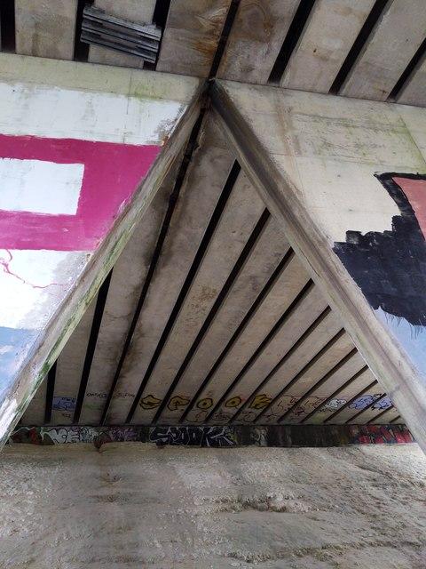 M25 bridge over the River Darent