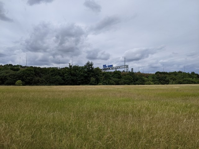 M25 viewed from Darent Valley Path